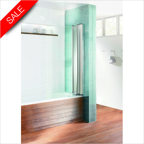 Simpsons Bath Screens - Edge Foldaway Bath Screen