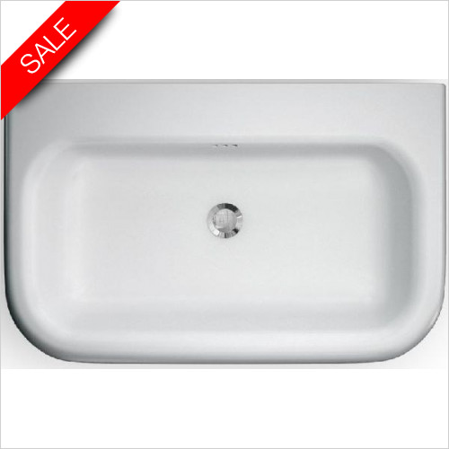 Clearwater - Roll Top Traditional Basin With Overflow 750 x 470 x 171mm