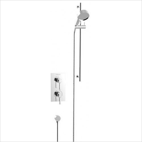 Heritage Showers - Somersby Recessed Shower With Deluxe Fixed Head Kit