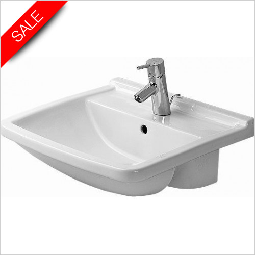 Duravit Basins - Starck 3 Semi-Recessed Washbasin 550mm